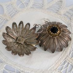 Antique Chinese Filigree Earrings Large and Stunning by audreyf