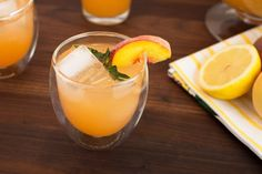 Sweetened with a fresh peach and mint infused simple syrup, this Peach Mint Lemonade tastes like summer in a glass. It's easy to make, too!