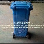 Jual Tong Sampah Fiber Roda 120 Liter