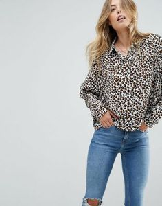 ASOS Blouse in Animal Print