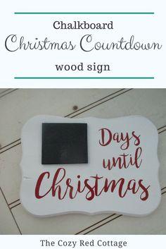 Countdown to Christmas Chalkboard Sign