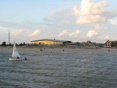 Het Lemster strand aan het Iselmar door Lute Kelderhuis uit Lemmer