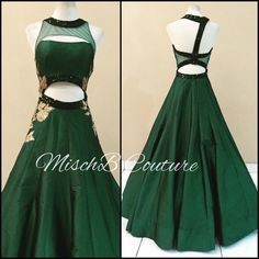 Emerald Gown, by MischB Couture