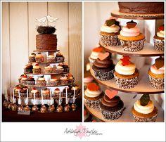 A Rustic Farm Themed Wedding Cupcake Tower