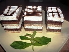 Prajitura cu doua creme Romanian Desserts, Romanian Food, Delicious Desserts, Dessert Recipes, Sweets Cake, Winter Food, Bakery, Good Food, Goodies