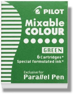 Pilot Parallel Pen Ink Refills for Calligraphy Pens, Gree…