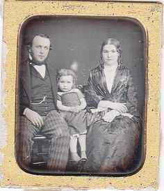 1 6th Plate Daguerreotype of A Family Including Husband Wife and Child | eBay
