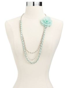 Chiffon Flower Chain Necklace: Charlotte Russe