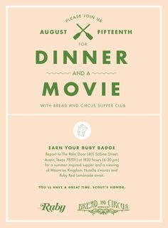 Wish I lived in TX for this Supper Club | grownupshoes.com