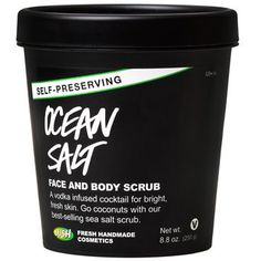 Washing with Ocean Salt is like taking your skin on a trip to the seaside for an invigorating splash in the water. The minerals in sea salt soften as it scrubs away dirt, dead skin and blockages for a bright, fresh complexion. We mix in fresh avocado and coconut to hydrate thirsty skin, leaving it balanced and soft, while lime and vodka deep clean and tone the skin leaving it visibly brightened. This formula has been expertly rebalanced, so there's no need for us to add any synthetic…