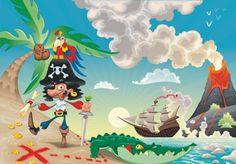 fotomural infantil pirata papelespintados.es