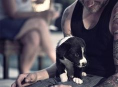 Reasons to Love Guys with Tattoos.... Plus hot guys and puppies♥♡♥♡♥