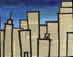 Newspaper Cityscape Art Project