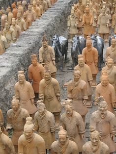 Terra Cotta Army Xian China  I hear every soldier was carved to be completely unique. Imagine the amount of work it must have taken...and the sense of accomplishment afterwards. Amazing.  #monogramsvacation
