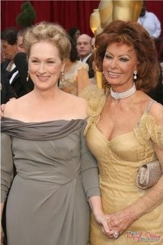 With Sophia Loren at the 2009 Academy Awards