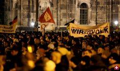 Pegida-Aufmarsch in Dresden