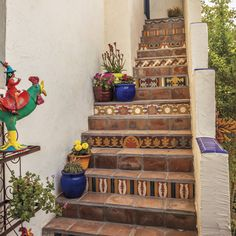 The tile work on this staircase is so beautiful! #phgmag #remodeled