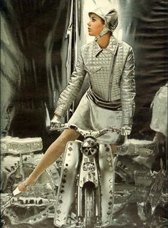 Colleen Corby in space age fashions, 1967