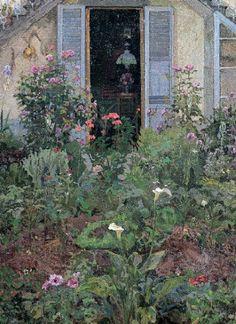 The Garden -  Llewelyn Lloyd, 1907  British-Italian 1879-1949