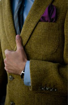 Great mix of modern colors with classic tweed