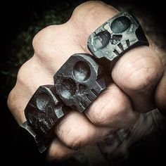 Image of Hand Forged Skull Rings Mens Skull Rings, Silver Skull Ring, Welding Projects, Blacksmith Projects, Welding Art, Horseshoe Crafts, Horseshoe Art, Skull Jewelry, Jewlery