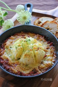 スキレット✿玉葱のボロネーゼチーズ焼き✿ by アトリエ沙羅 [クックパッド] 簡単おいしいみんなのレシピが260万品
