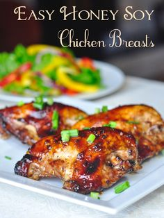 Easy Honey Soy Chicken Breasts - 141 THOUSAND re-pins makes this one of Rock Recipes most popular Pinterest chicken recipes ever. It uses just a few simple ingredients and very little advance preparation to create a quick and easy workday meal that's sure to be a hit with the whole family.