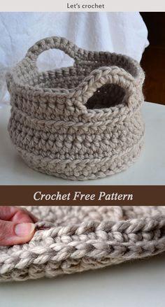 Chunky Basket Crochet Free Pattern
