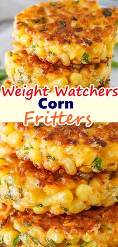 Corn Fritters – Skinny Recipes Corn Fritters Don't forget to Pin this so it will be SAVED to your timeline! Corn Fritters are the perfect way to enjoy corn! You won't be able to resist the crispy little cakes loaded with sweet golden corn … Skinny Recipes, Ww Recipes, Side Dish Recipes, Veggie Recipes, Cooking Recipes, Healthy Recipes, Weight Watcher Vegetable Recipes, Recipies, Fresh Corn Recipes