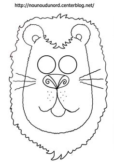 masque lion d'autres modèles à imprimer cliquez sur mon lien http://nounoudunord.centerblog.net/4209-masques-a-imprimer-classes-par-ordre-alphabetique