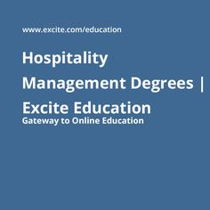 Hotel and Hospitality Management online write