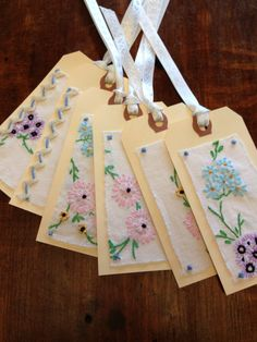 Shabby Chic All Occasion Gift Tag Repurposed by WillowsVintageHome