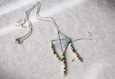 Necklace with colorful kite pendant engraved by SilviaWithLove