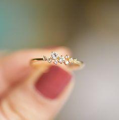 Bildergebnis für 18K gold Ring, Petite Diamant-Zirkon