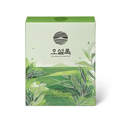 Osulloc Jeju Green Tea Island Iced Organic Green Tea x Stick Tea-bags) -- Continue to the product at the image link. (This is an affiliate link) Tea Packaging, Packaging Design, Branding Design, Label Design, Graphic Design, Organic Green Tea, Magazine Layout Design, Tea Brands, Tea Box