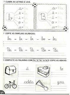 Atividades de alfabetização com as letras: B ,C ,D e F Maternelle Grande Section, Learn Portuguese, Kids Learning Activities, First Grade, Sheet Music, Acting, Homeschool, Language, Multiplication