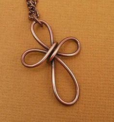 place to buy and sell all things handmade - Simple Copper Wire Cross NecklaceWire WrappedAntiqued Copper Wire Crafts, Copper Wire Jewelry, Wire Jewelry Designs, Handmade Wire Jewelry, Copper Wire Art, Jewelry Ideas, Handmade Items, Wire Pendant, Cross Pendant