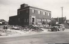 Coca Cola Bottling Plant under construction, Terrell, Texas, 1935