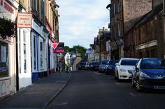 Dunblane's High Street...You can see from one end to the other (Scotland).