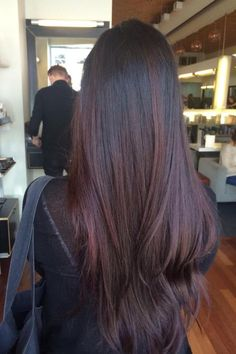 Balayage Red Highlights Dark Hair Long Hair Balayage