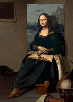 The shoes of Mona Lisa [Daniel Lienhard on FLICKR] (Gioconda / Mona Lisa)