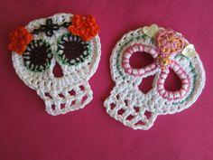 day of the dead crochet skull halloween