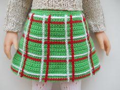 вязаная юбка вид спереди Master Class, Apron, Dolls, Skirts, Patterns, American, Dresses, Fashion, Crochet Doll Clothes