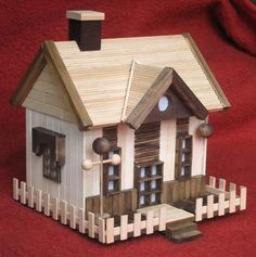 Popsicle Stick Crafts House | Popsicle-house4  Simple, but so adorable!