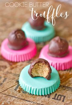 Cookie butter truffles- these are delicious, so easy to make, and always big hits!