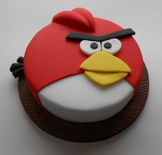 how to make an angry bird cake...SIMPLE n EASY