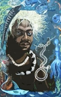 Olokun is the mysterious, titanic orisha of the oceanic abyss who helps with psychic abilities and mediumship, and collects the spirits of the dead.