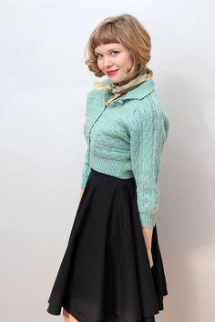 Vintage Swiss Virgin Wool 1950s Sweater  1950s Nordic Sweater  Grey Wool Snowflake Sweater  50s Cardigan Sweater  Swiss Cardigan