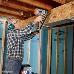 23 Tips for Drying Up and Finishing Your Basement | The Family Handyman | Add some value to your home with a finished basement! Check out these tips for making sure you start with a clean, dry space and then turn your basement into an awesome rec room, family room or even add another bedroom. 12/28 #basementrepair