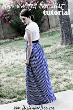This Big Oak Tree: High-Waisted Maxi Skirt {tutorial}